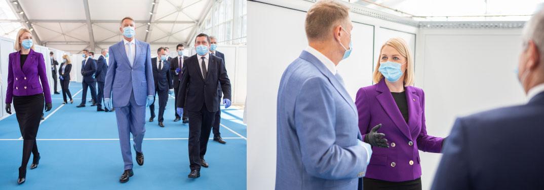 Președintele României, prim-ministrul și ministrul sănătății, vizită în județul Mureș