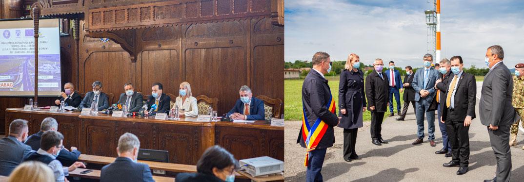 Premierul Ludovic Orban, prezent la semnarea contractului pentru un nou lot al Autostrăzii Transilva