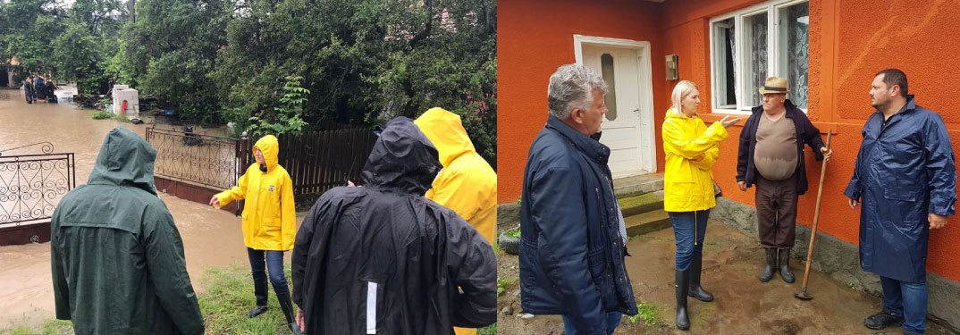 Prefectul de Mureș, Mara Togănel, a mers în gospodăriile afectate de inundații